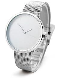 d9063bdf967c LONGQI Reloj de pulsera unisex de cuarzo para negocios y estilo casual con  correa de malla