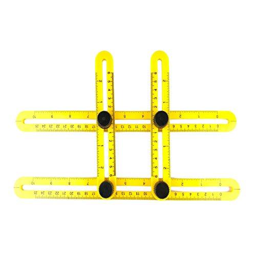 SYSI Messgerät Werkzeug viereckigen Lineal (Gelb)