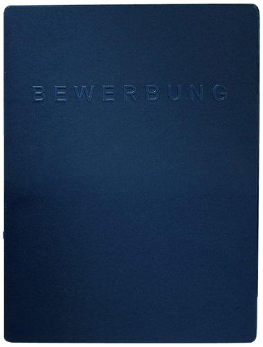 Pagna 22022-02 Bewerbungsmappe Square 225x310x7mm blau (Blaue Präsentationsmappen)