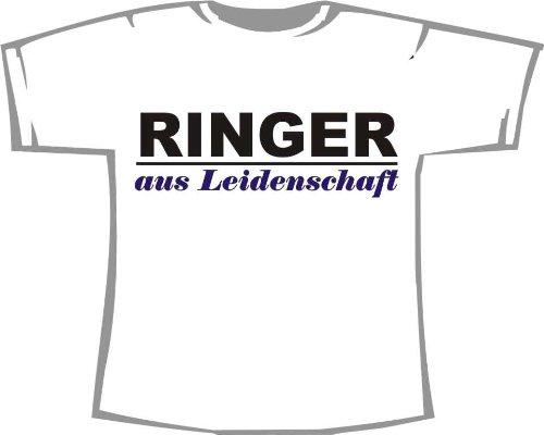 Ringer aus Leidenschaft; Kinder T-Shirt weiß, Gr. 1-2 (Kinder T-shirt 2 Ringer)
