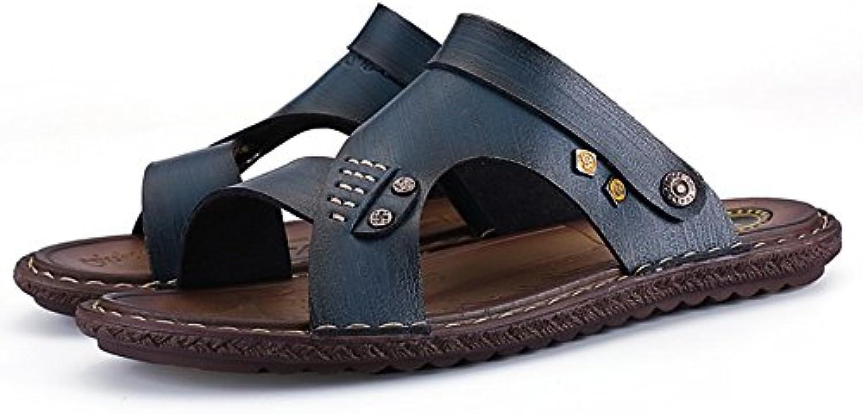ZHANGRONG   Walking Sandalen Herren PU Sommerschuhe offene Zehe Sandalen 5 Größen erhältlich ( Farbe : C   größe