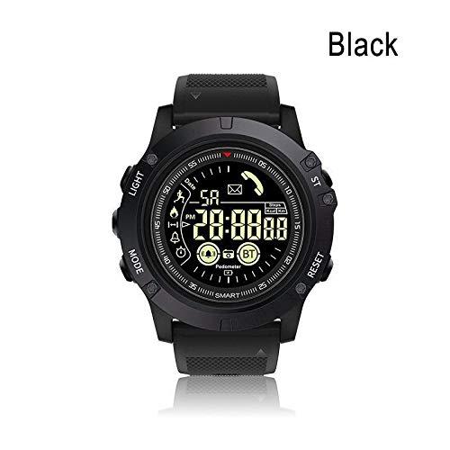 XuBa, Orologio Sportivo Impermeabile IP67, Orologio tattico di Grado Militare Nero Nero