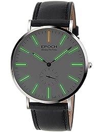 Epoch 6025G 50m Wasserdicht Tritium grün leuchtende Ultrathin Case Schutzhülle Business Herren Quarzuhr Armbanduhr