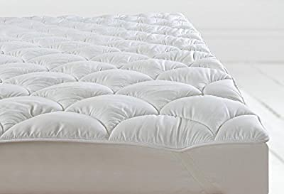 Double Bed Anti Allergy Quilted Mattress Topper / Protector Orthopaedic Filled Like Cloud