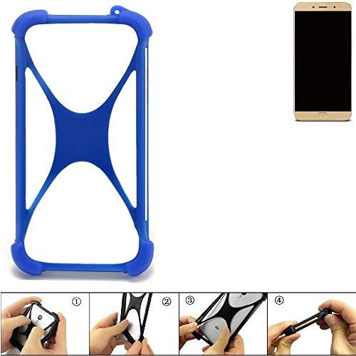 K-S-Trade Handyhülle Allview X4 Soul Lite Silikon Schutz Hülle Cover Case Bumper Silikoncase TPU Softcase Schutzhülle Smartphone Stoßschutz, blau (1x)