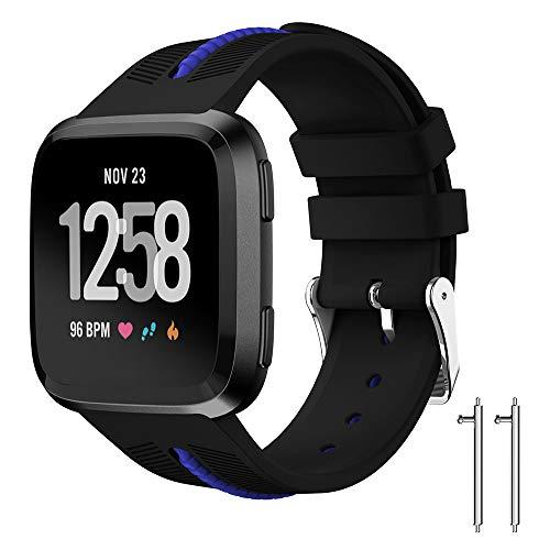 MEIbax-Smart Watch, Orologio Sport Cinturino in Silicone Fitbit Versa Lite Braccialetto Fitness Activity Tracker Donna Uomo Bambini Contapassi Calorie