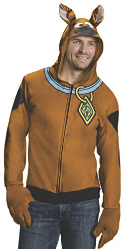 Scooby Doo Hooded Sweatshirt Costume. This alternative is highly-rated hooded sweatshirt costume. It doesn't include any trousers, but is a lower price. However, the postage and packaging is expensive.