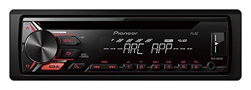 Pioneer DEH-1900UB | 1DIN Autoradio CD-Receiver mit Front AUX-In | Remote App Control für Android | RDS Radio | USB | Wiedergabe von MP3 WMA WAV FLAC über MOS-FET 4 x 50W | High Level Car HiFi