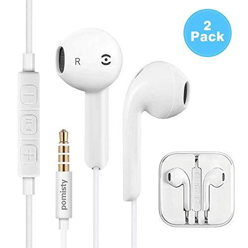 Auriculares in-Ear con micrófono, Auriculares Pomisty In-Ear Auriculares estéreo con Aislamiento de...
