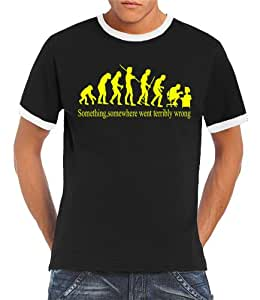 Touchlines Something Logo Men's T-Shirt black/neonyellow Size:XL