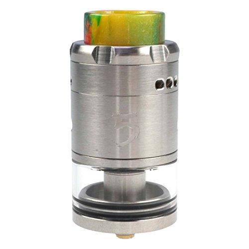 Riccardo RDTA 5 Clearomizer 4 ml, Durchmesser 25 mm, iJoy Verdampfer für e-Zigarette, silber
