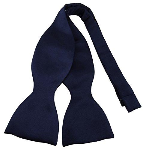 r - Querbinder Fliege aus 100% Polyester, Farbe blau schwarzblau marine - Qualität in Satin ()