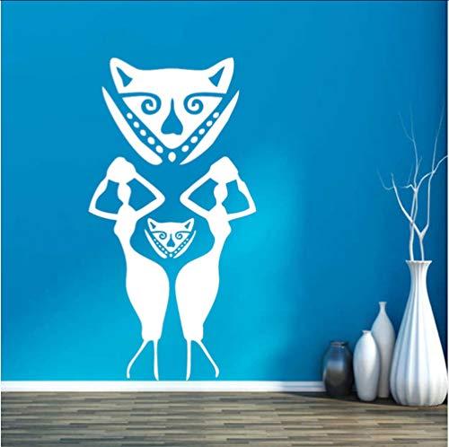 Myvovo Wandaufkleber Vinyl Frauen Afrika Maske Stamm Äthiopien Stamm Menschen Schlafsaal Schlafzimmer Aufkleber Wandbild Diamant Ebene Künstlerische Dekorationen 43 * 83 ()