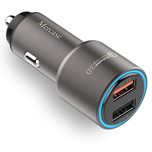 Mercase Cargador Coche Movil Carga Rapida Quick Charge 3.0 30W