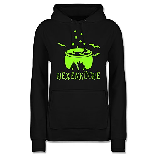 Shirtracer Küche - Hexenküche - XS - Schwarz - JH001F - Damen Hoodie