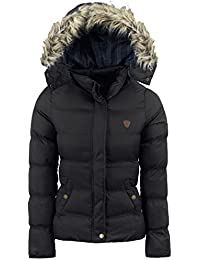 cfcb429ac11f Threadbare Womens Padded Puffa Ladies Puffer Jacket Faux FurTrim Hood Short  Warm Coat Size 8 to