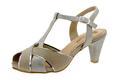 Chaussure femme confort en cuir Piesanto 6258 sandale escarpin chaussure confortables amples Visón