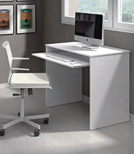 Milan Small White Gloss Computer Desk Furniture Factor ...