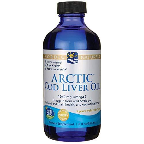 Aceite de hígado de bacalao ártico, 8 fl oz (237 ml) - Naturals nór