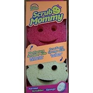 Scrub Daddy Spugna da cucina a doppio lato super assorbente Scrub Mommy Viola