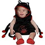 Dress Up America - Disfraz de araña de peluche para bebés, 6 meses (362-0-6)