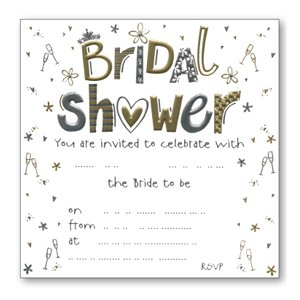 Luxury Bridal Shower Invitations - Pack of 10