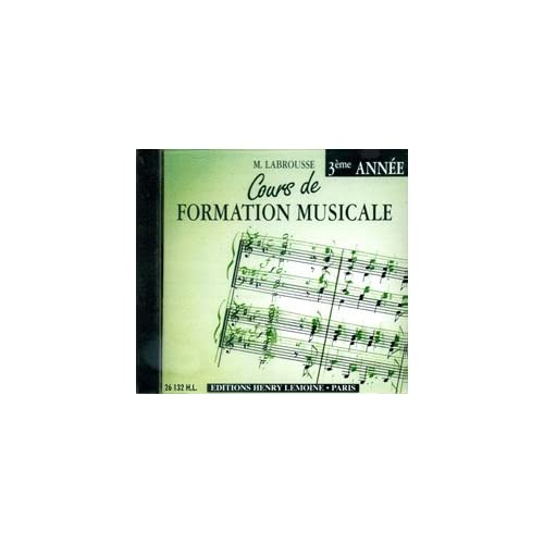 Cours de Formation Musicale Vol.3 --- Formation Musicale