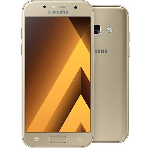 Samsung Galaxy A3 2017, Colore Oro, Memoria 16 GB, Marchio 3 (H3G)