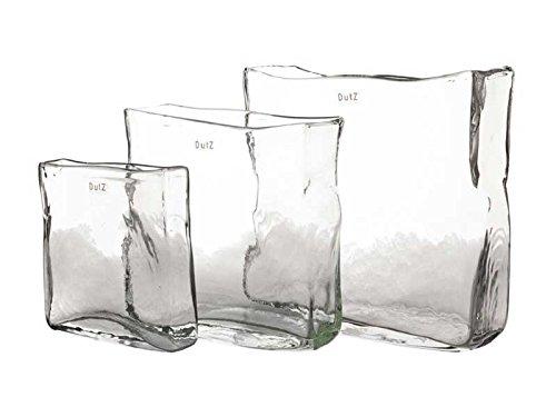 Dutz Vase Glas rechteckig - klar, Höhe 25 cm, Breite 25x8 cm
