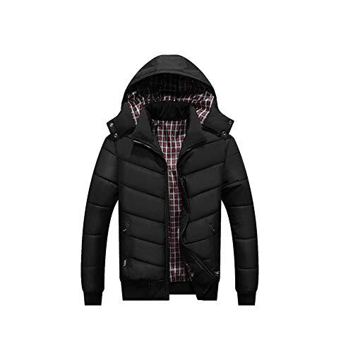 HUAN Mens Coats Windbreaker Winter Wasserdichte und kalte Jacke 2018 Tops Outwear (Farbe : Schwarz, Größe : XL)