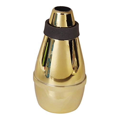 Shiwaki ABS Trompete Straight Schalldämpfer Practice Cup Dämpfer Für Blechblasinstrument Anfänger - Golden, wie beschrieben