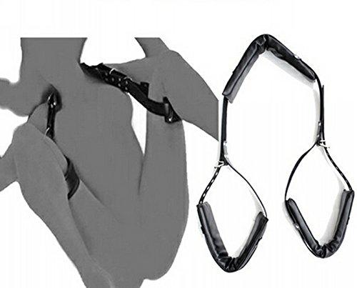 LYP82NLF New BDSM Easy Access Tragbare Oberschenkelhalterung Sling Fetisch Sex Bondage Unisex - Bondage Set Kunstleder Open Thigh Spreader Körper Fessel Set Restraint Fetisch Harness Bedroom Fun Sm Spielzeug