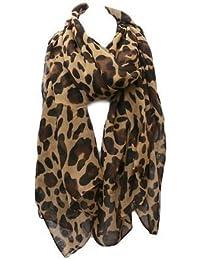 Celebrity Designer Style brown/beige leopard animal print ladies Scarf - by Fat-Catz-copy-catz