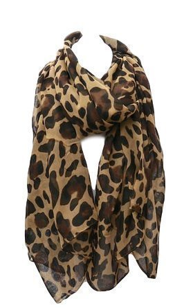 619a003bba900 Celebrity Designer Style brown beige leopard animal print ladies Scarf - by  Fat-Catz-copy-catz - Buy Online in Oman.