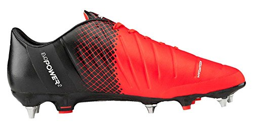 Puma - Evopower 1.3 Tricks Ag, Scarpe da calcio Uomo red blast-white-black