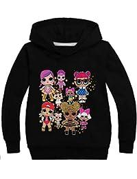 Socluer Felpa con Cappuccio L.O.L Surprise 3D Magliette per Ragazze Dolls Cartoon Game Girl's