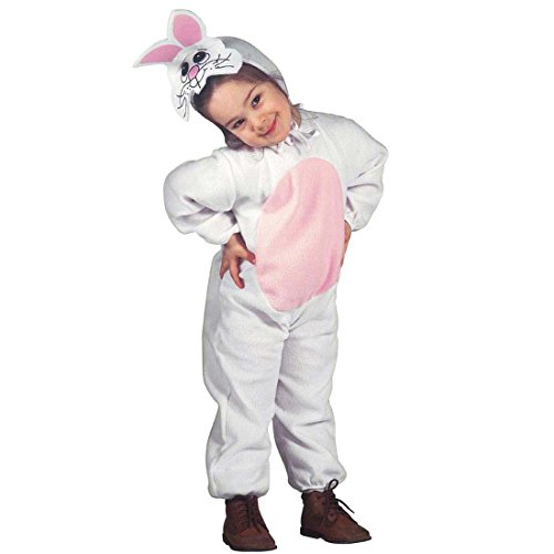 Hasenkostüm Kinder Hasen Kostüm 104 cm 2-3 Jahre Häschen Tierkostüm Bunny Kleinkindkostüm Hase Komplettkostüm Tier Jumpsuit Kinderkostüm Karnevalskostüme (Kostüme Kleinkind Tierische)