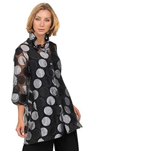 Joseph Ribkoff Black & Grey Blouse Style 192812 - Spring/Summer 2019 (8)