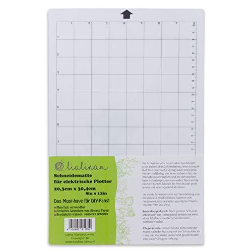 Lialina ® Schneidematte für alle gängigen elektrischen Schneide-Plotter/Raster in cm & Inch/Format 20,3 x 30,4 cm 8 x 12 Inch/Must-Have für alle kreativen DIY-Fans (Bügeln Matte Nähen)