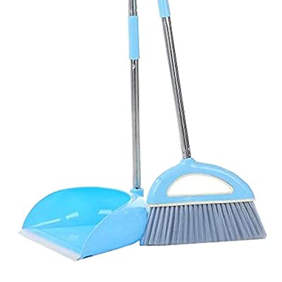Alien Storehouse Durable Removable Broom und Dustpan Standing Upright Griffe Sweep Set mit Langem Griff, A2