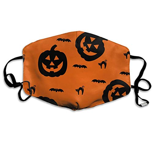 (Bgejkos Unisex Mouth Mask Cute Happy Halloween Flu Germs Masks Half Face Earloop for Outdoor Cycling)