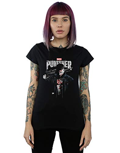 Marvel Mujer The Punisher TV Series Frank Castle Camiseta Negro Small