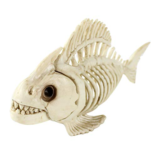 THEE Scary Skull Bone Animai Party Human Skelett Anatomical Model Halloween Dekoration, JPDZS52a-1, fish bone (Halloween Party Zeug)