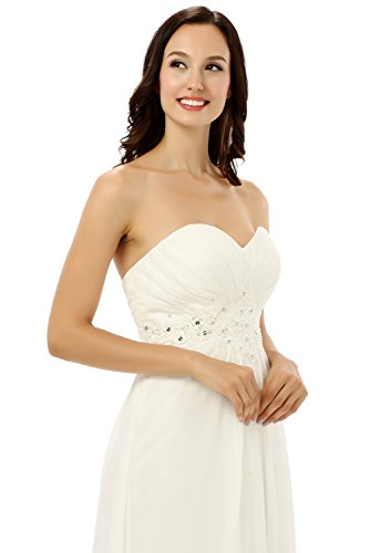 Ikerenwedding - Robe - Taille empire - Femme Small Ivoire