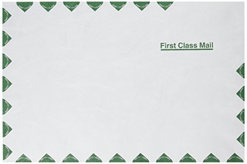 TYVEK USPS FIRST CLASS MAILER  SIDE SEAM  10 X 15  WHITE  100/BOX