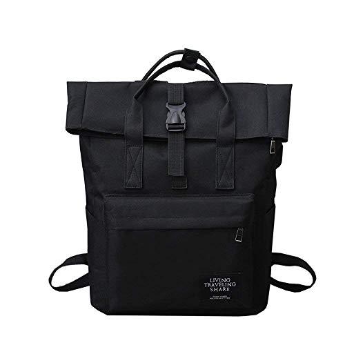 Schüler Schulrucksack - Canvas Laptop Casual Rucksack, große Kapazität Schulter Schultasche mit USB-Lade für College Student Business Men Women