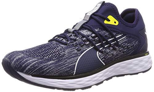 Puma Speed 600 FUSEFIT, Zapatillas de Running para Hombre, Azul (Peacoat White-Blazing Yellow), 41 EU