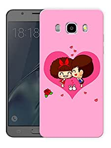 "Humor Gang Couple In Heart Printed Designer Mobile Back Cover For ""Samsung Galaxy J5 2016 Edition"" (3D, Matte Finish, Premium Quality, Protective Snap On Slim Hard Phone Case, Multi Color)"