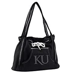 NCAA Kansas Jayhawks Sport Noir Hoodie Purse, Black