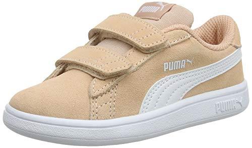 PUMA Smash v2 SD V Inf, Zapatillas Unisex Niños, Peach Parfait White, 22 EU